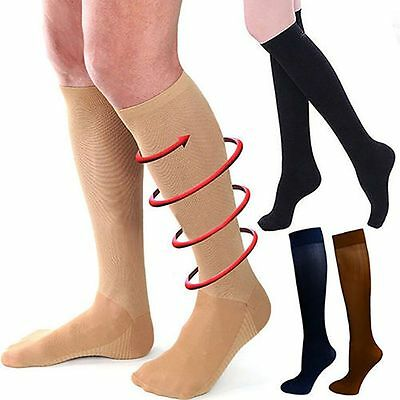 Men Womens Compression Socks Pain Relief Leg Foot Calf Support Knee Stockings