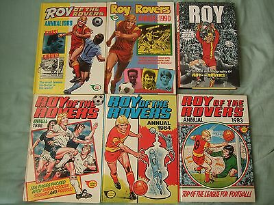 Roy of the Rovers Annual 1983, 84, 86, 89, 90 + Autobiography
