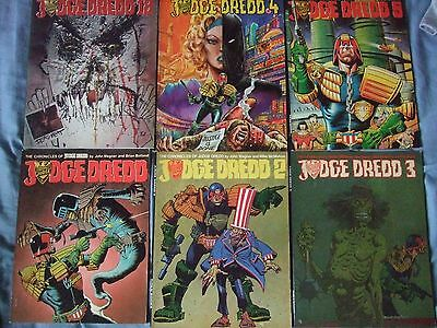 Judge Dredd Chronicles # 1 - 5 + 18. Titan Books, Judge Death, Brian Bolland