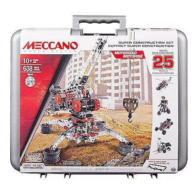 Meccano Super Construction Set Build 1 of 25 Motorized Models for Ages 8+