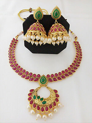Indian Fashion Jewelry New Necklace Earring Antique Bollywood Ethnic Traditional