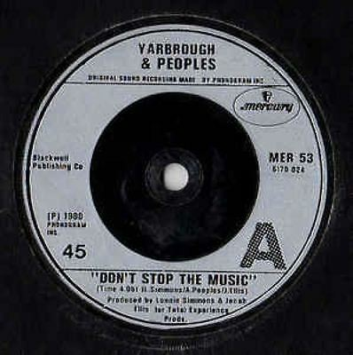 """Don't Stop The Music 7"""" : Yarbrough & Peoples"""