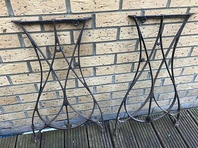 Vintage Cast Iron Ornate Industrial Metal Machine Table legs - steam punk lot 1