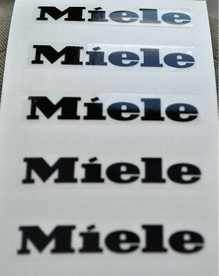 Miele emblem facia stickers for worn facia, labels x 6   5.25cm wide x 8-10mm h.