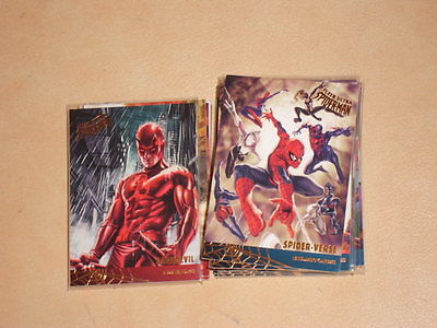 2017 Marvel Fleer Ultra Spider-Man Insert Team-Ups Milestones Lot 17