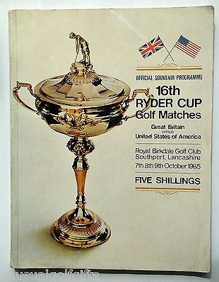 1965 Ryder Cup Golf Programme 52 year old program Royal Birkdale Club Southport
