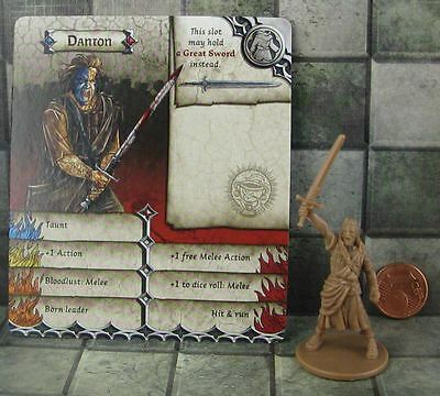 Zombicide Black Plague Promo Hero Danton not William Wallace from Braveheart