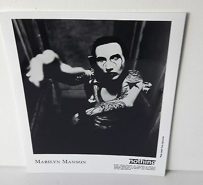 "Marilyn Manson USA 1997 Original Nothing Promo Photo   10"" x  8"""