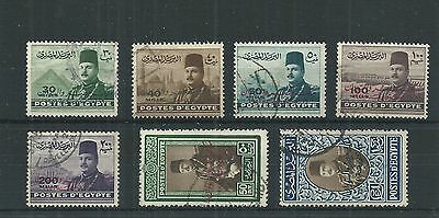 Egypt 1947 Overprinted Set  Fine Used