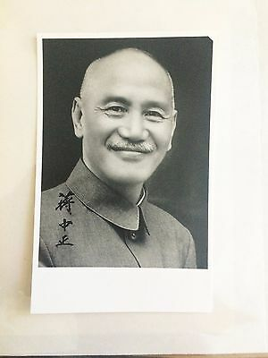 Original Autogramm Chiang Kai-Shek  蔣介石 / 蒋介石 Authentic Signed Autograph China