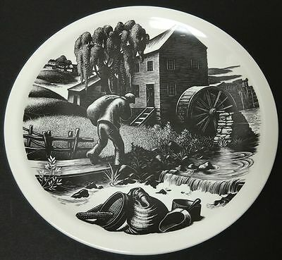 Clare Leighton Grist Milling Plate From Wood Engraving Wedgewood ChIna England