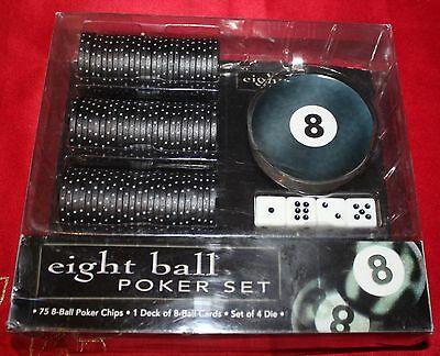 Eight Ball Poker Set