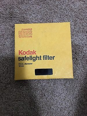 "Vintage Eastman Kodak Glass Safelight Filter 5 1/2"" 14 cm  CAT 1521525 - USED"