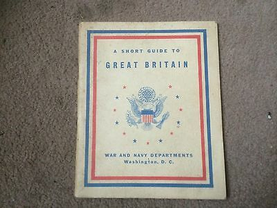 WW2 USAAF A Short Guide to  Britain B17 England USA US Army