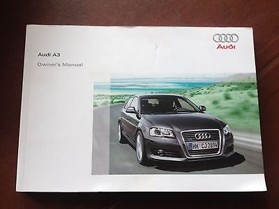 Audi A3  Owners Manual  Handbook  2008 2012  270 Pages.