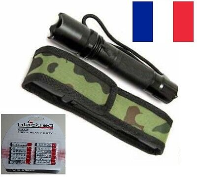 Lampe Torche Tactique 6000lm XM-L T6 LED Zoomable Focus