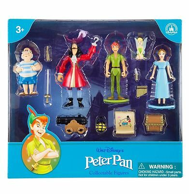 New Disney Parks Peter Pan Collection Mini Figure 7 Piece Play Set, Usa Import