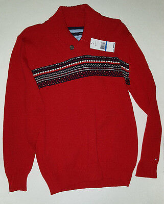 NEW Tommy Hilfiger Boy's XL (20) Red Dressy Casual Sweater Jacket $49