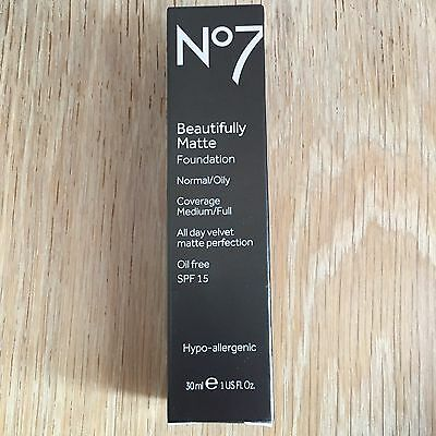 No7 Beautifully Matte Foundation (Calico) 30ml, Brand New In Box!