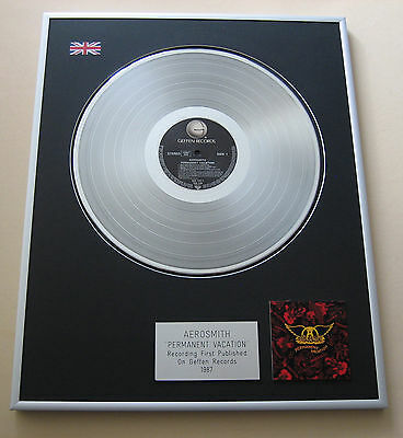 AEROSMITH Permanent Vacation LP Platinum Presentation Disc