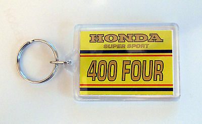 Colour Matched Honda Cb400F 400 Four 400/4 Canary Yellow Candy Antares Key Rings
