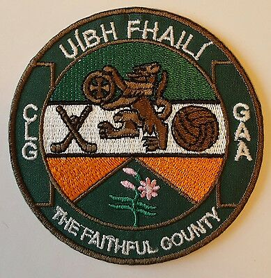 Offaly County GAA Gaelic Hurling Football iron on/ sew embroidered patch badge