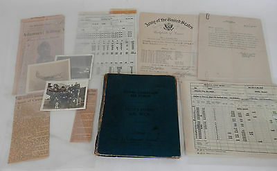 WWII FIghter Pilot's Flight Log with Photos