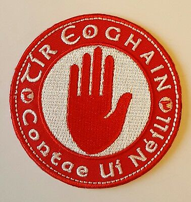 Tyrone County GAA Gaelic Hurling Football iron on/ sew embroidered patch