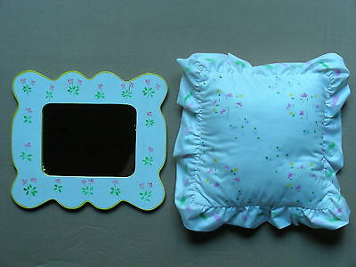 Young Girl's Hanging Mirror And Small Pillow
