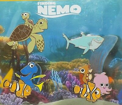 Disney Finding Nemo Booster Pin Collection Nemo Bruce Dory Squirt Crush Marlin