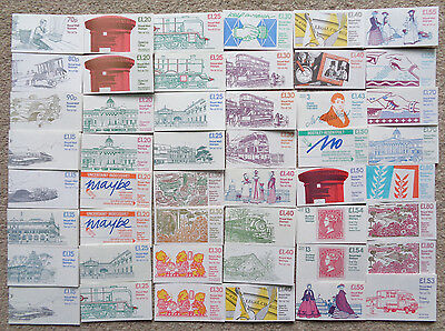 Collection of 48 Different Folded Stamp Booklets MNH - Below Face Value  FV £64+