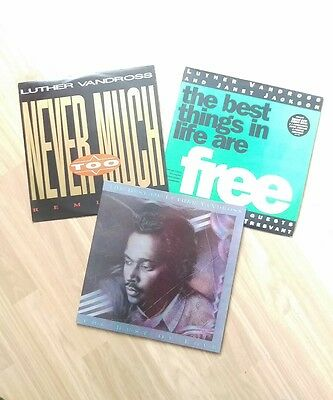 "Luther Vandross Vinly Record Bundle LP 12"" Best of Never Too Much & More"