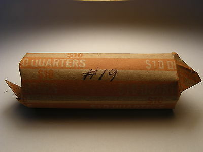 1934-1963 Washington Silver Quarters Circulated Roll (40 Coins) #19