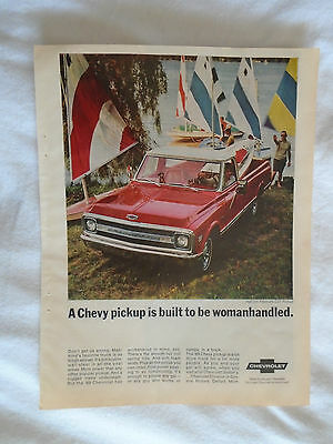 1969 Chevrolet Pickup Truck (To Be Womanhandled) Magazine advertising ad print