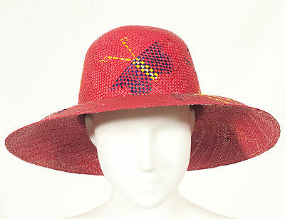 '60's French Vintage Summer Straw Hat 55 Size S