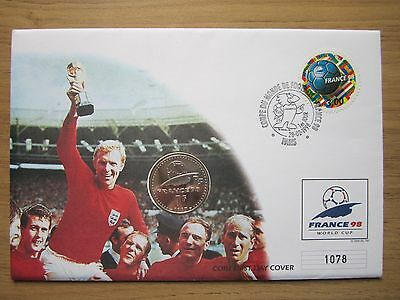 """france '98 World Cup"" French Coin / Stamp First Day Cover"