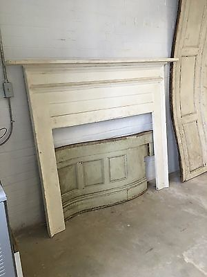 White Farmhouse Wood Mantel from 19th Century