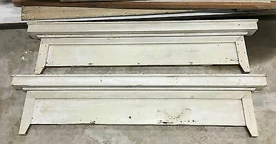 Antique White Wooden Door Pediments from the 1800's