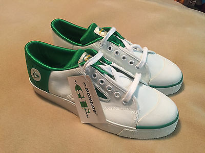 Vintage Dunlop Green Flash Trainers Size 7.5 1990's New Old Stock With Tags