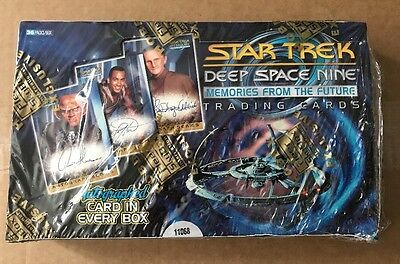 SKYBOX Three STAR TREK DS9 Deep Space 9 Memories Empty Display Box with Wrappers