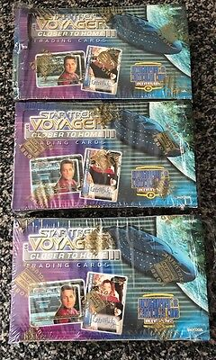 SKYBOX Three STAR TREK VOYAGER CLOSER TO HOME Empty Display Boxes with Wrappers