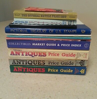 Antiques and Collectibles Books and Price Guides- Lot of 13