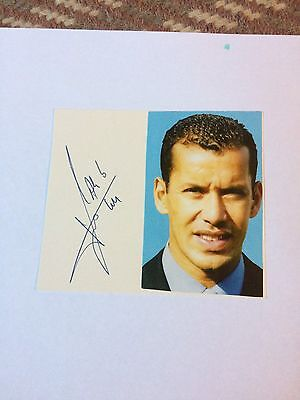 Ali Bernarbia Man City Signed 4x4 Card