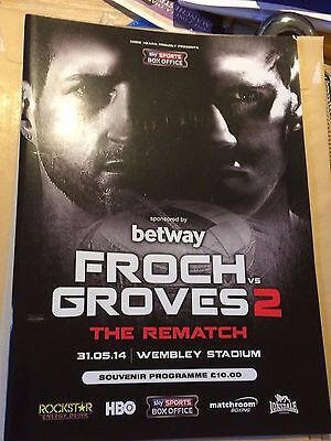Froch V Groves 2 The Rematch- 31 May 2014- Wembley Stadium- Official Programme