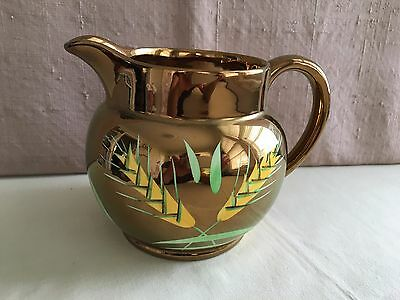 Vintage Wade Copper Luster Wheat Pitcher Milk Jug England