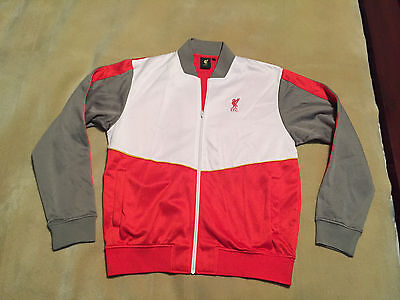 Mens Retro Vintage Liverpool FC Tracksuit Top Training Size Large Great Cond