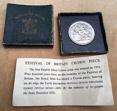 1951 Festival of Britain Crown Piece Boxed with Title Paper