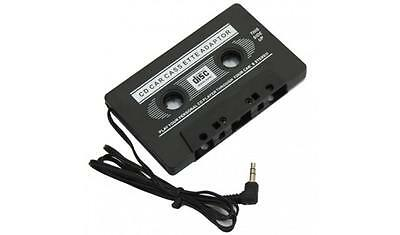 New black Car Casette Tape 3.5mm AUX Audio Adapter MP3 MP4 Player CD iPod iPhone
