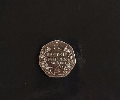 Beatrix Potter 50p Coin (2016) SHINY - The Great British Coin Hunt