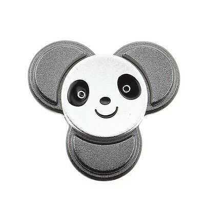 Panda Silver Metal Fidget Spinner EDC Stress Relief Focus Hand Finger Toy Kids